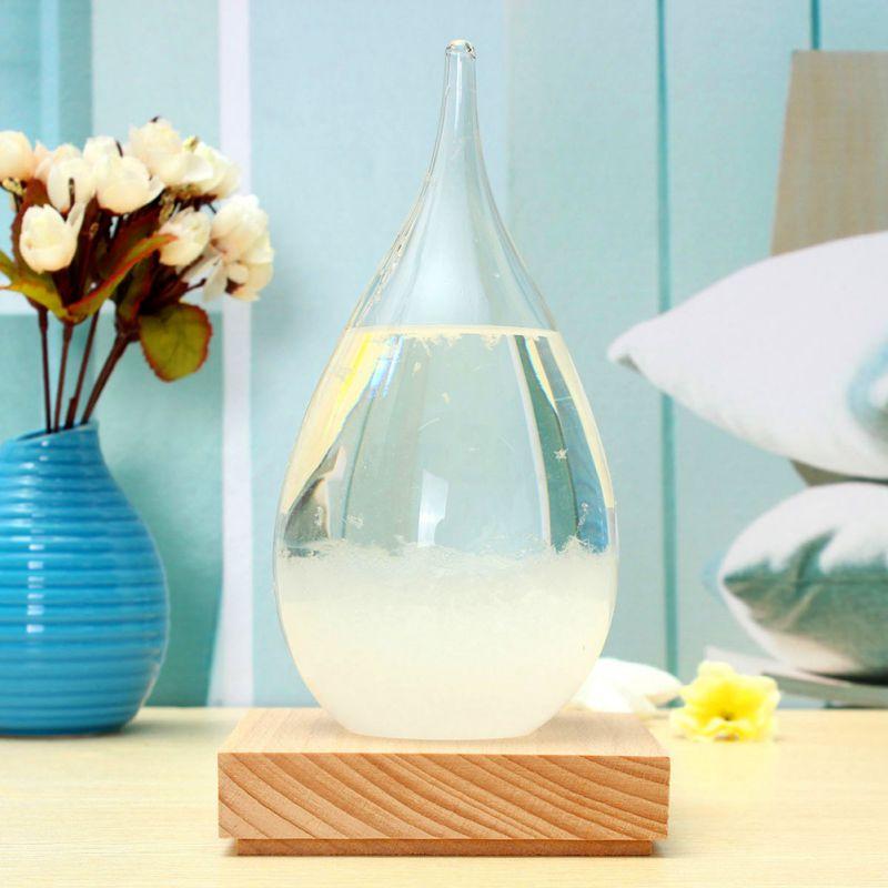Weersverwachting Water Drop Glass Barometer Crystal Flessen Decor Weerstation Auto Home Office Desktop Decor Craft - 5