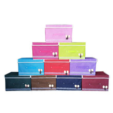 Fashion and durable praise non-woven storage box large folding underwear organizer container