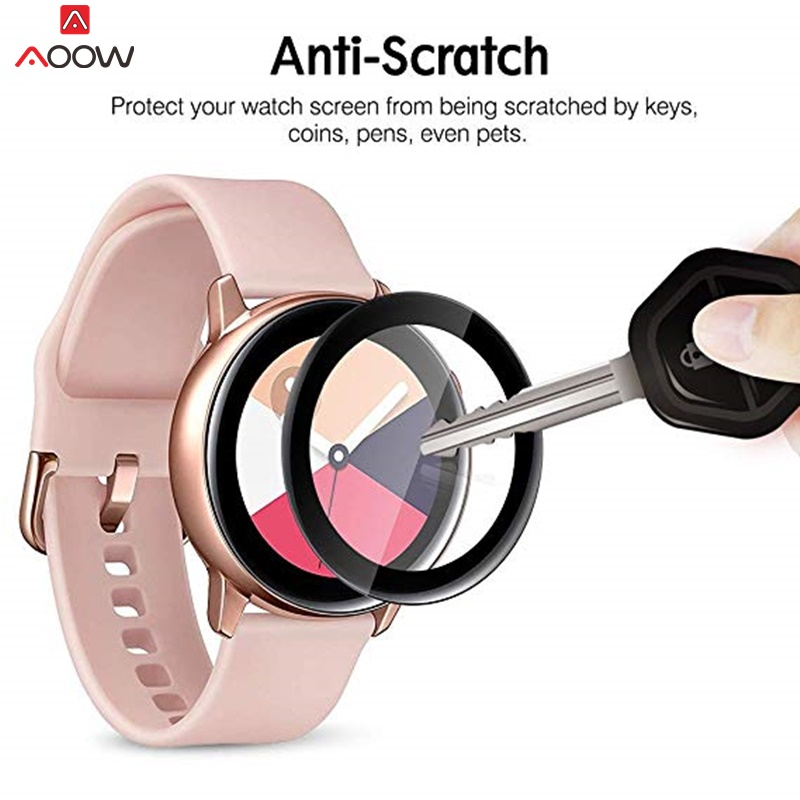 2pcs PET Soft Screen Protector For Samsung Galaxy Watch Active 1 2 40mm R500/R830 Protective Film Anti Explosion Anti-shatter