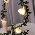 Светодиодные гирлянды в виде Розы  светодиодные гирлянды на солнечных батареях для свадьбы  Дня Святого Валентина  вечерние гирлянды  Декор