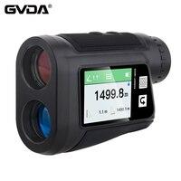 GVDA-telémetro láser para Golf, deporte de caza, LCD, recargable, medidor de distancia, 1500M, 1000M, 800M, 600M