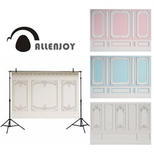 Allenjoy professional photography background solid color classic interior wall mouldings carving pattern backdrop photobooth