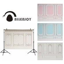 صورة خلفية احترافية للتصوير من Allenjoy ملونة صلبة قوالب جدارية داخلية كلاسيكية منقوشة بنمط كشك الصور
