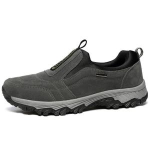 Image 3 - Outdoor Shoes Winter Suede Leather Men Shoes Fur Warm Casual Shoes Men Outdoor Men Sneakers Non slip Snow Shoes Hot Men Footwear
