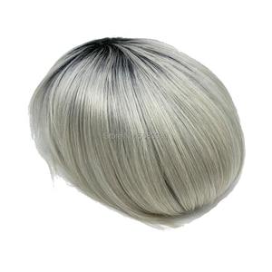 Image 4 - Tupé de color personalizado Popular, prótesis de cabello de color T que podría hacer cualquier base