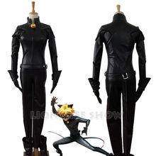 Adrien preto gato noir catsuit cosplay traje + máscara de halloween cosplay