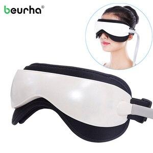 Image 1 - Elétrica dc vibração olho massageador máquina música magnética pressão de ar infravermelho aquecimento massagem óculos dispositivo cuidados com os olhos