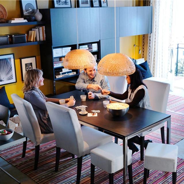Nordic Pendant Lamp  Wooden Pendant Weaving Bamboo Hanging Lamp Retro Garden Restaurant Study Bedroom Living Room Lamp lightIing 2