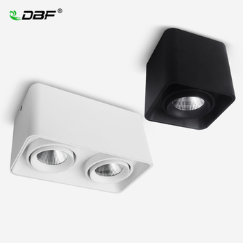 [DBF]Square COB LED Dimmable Downlights 10W 12W 20W 24W Surface Mounted LED Ceiling Lamps Spot Light LED Downlights AC85V-265V cob led downlights 7w 10w 12w 15w surface mounted dimmable led ceiling lamps spot light square cob led downlights ac85 265v