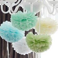 15 см = 6 дюймов папиросная бумага цветы бумажные шарики-Помпоны фонари вечерние украшения Ремесло Свадебные разные цвета на выбор wh