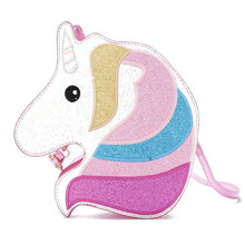Multicolored One-Angle Diagonal Bag Shoulder Casual Cartoon Style Colorful Sky Horse Personality Tide