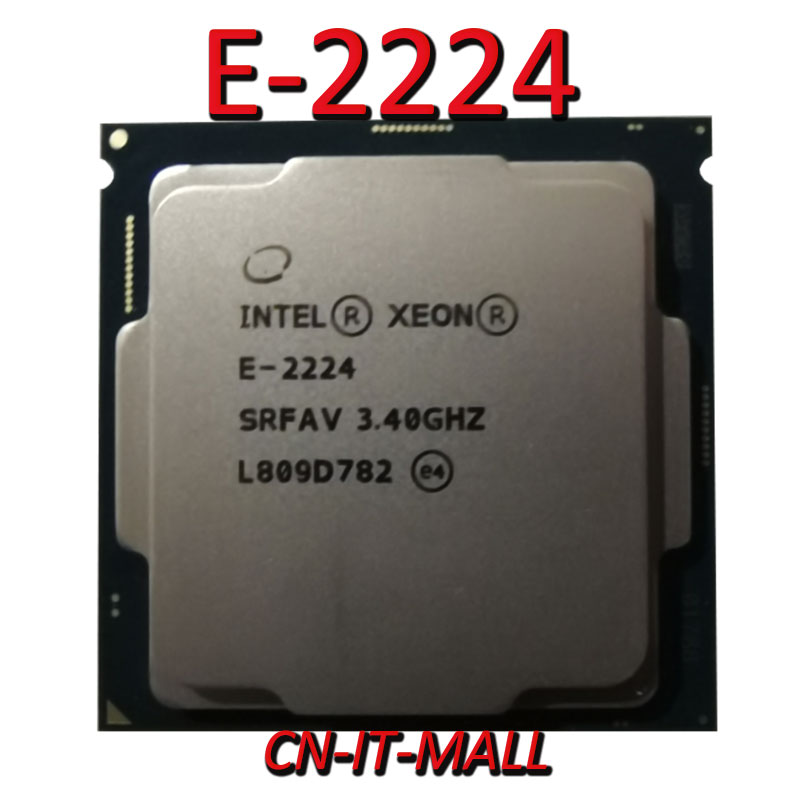 Pulled Xeon E-2224 CPU 3.4GHz 8MB 4 Core 4 Threads LGA1151 Processor