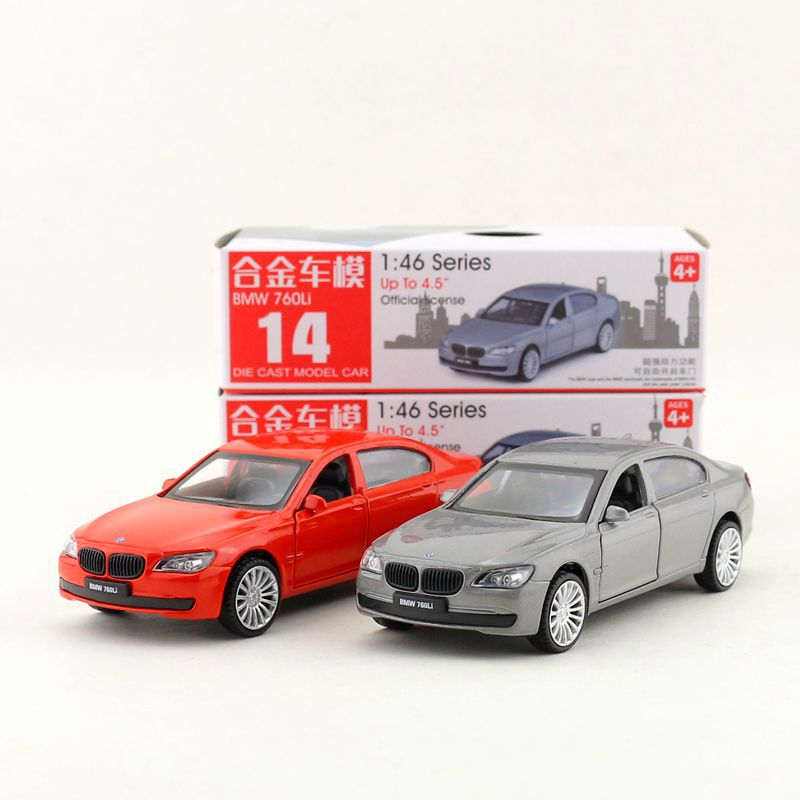 CAIPO 1:46 Scale BMW760i Alloy Pull-back Car Diecast Metal Model Car For Collection Friend Children Gift