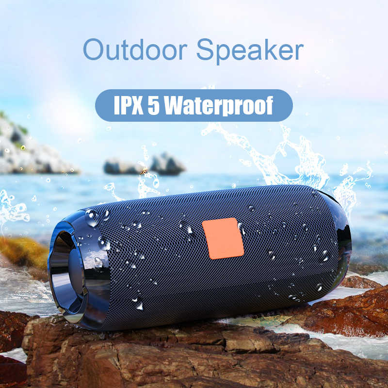 Portable Bluetooth Speaker 20w Wireless Bass Column Waterproof Outdoor Speaker Support AUX TF USB Subwoofer Loudspeaker TG117
