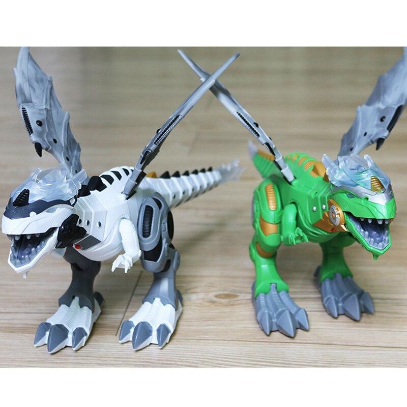 Crianças grande spray dinossauros mecânicos com asa