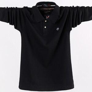 Image 4 - 4XL 5XL גדול גודל זכר פולו חולצות רחב מימדים 95% כותנה סתיו חורף גדול וגבוה Mens מותג בגדים אדום אפור ירוק שחור כחול