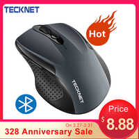 TeckNet Wireless Bluetooth Mouse 800/1200/1600/2000/2600 DPI Wireless Mouse Bluetooth For Laptop 24 Month Battery Life