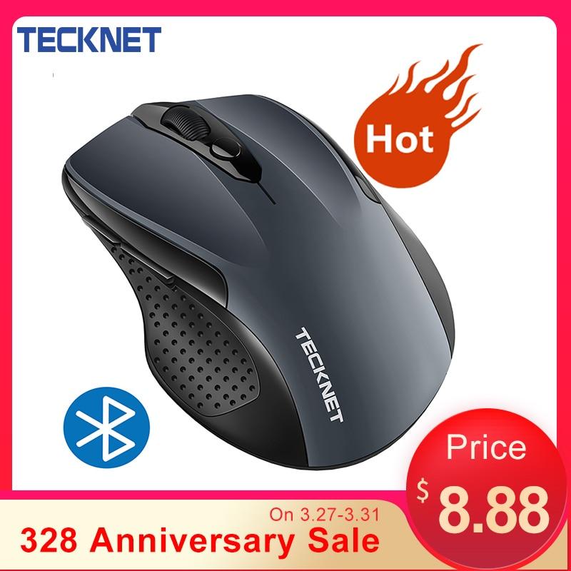 Tecknet sem fio bluetooth mouse 800/1200/1600/2000/2600 dpi mouse sem fio bluetooth para portátil 24 meses de vida da bateria