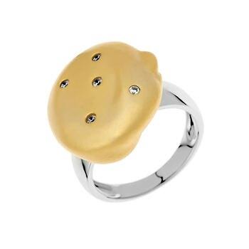 Кольцо из серебра с фианитами R00313