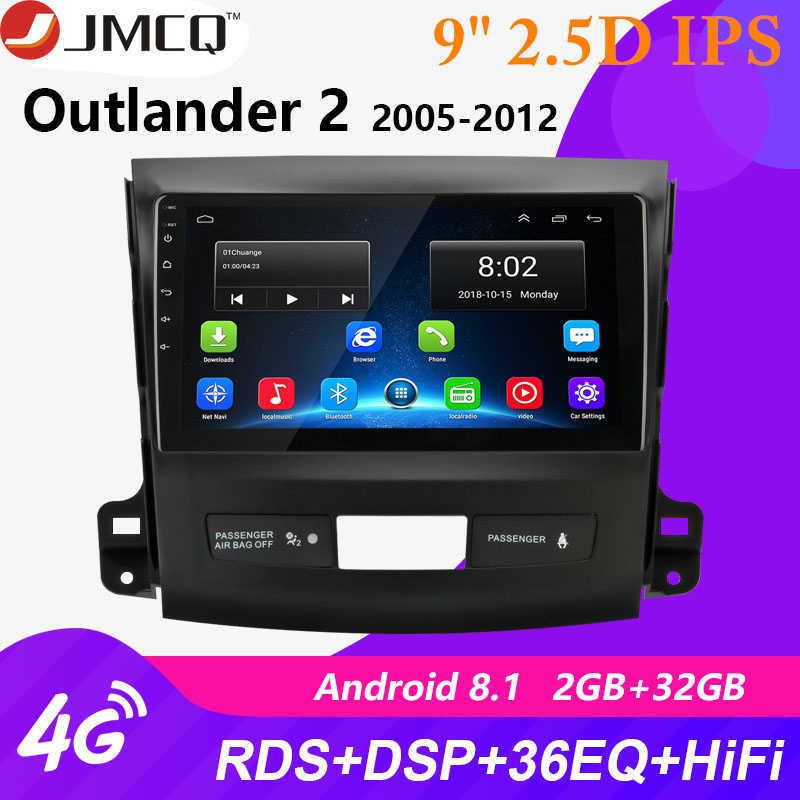 2 DIN 2G + 32G Android 8.0 Mobil Radio untuk Mitsubishi Outlander XL 2 CW0W 2005-2012 navigasi GPS Coche Pemain DVD Head Unit RDS