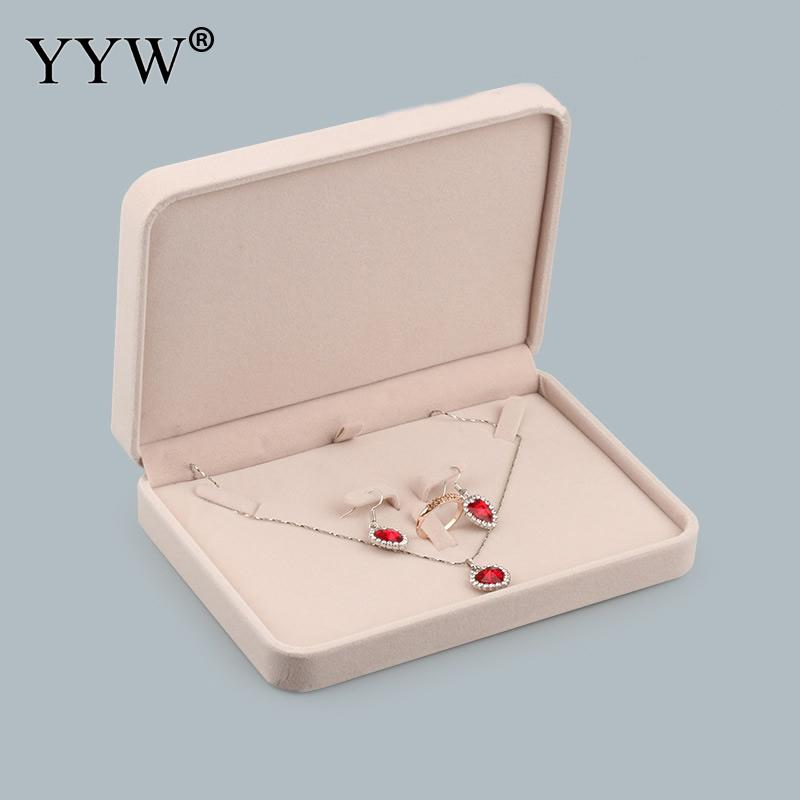 1pcs Square Rectangle Wedding Velvet Earrings Ring Box Jewelry Display Case Holder Gift Boxes Amazing Organizer For Necklaces