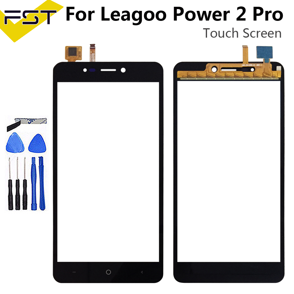 5.2''Touch Glass Panel For Leagoo Power 2 Pro Touch Screen Digitizer Sensor Front Outer Glass Lens Without LCD+ Tools