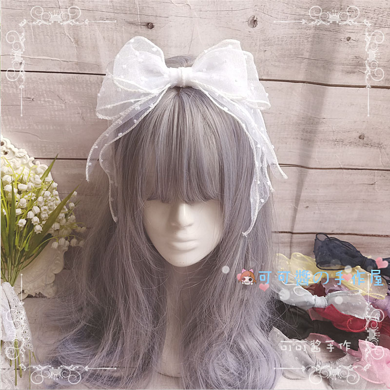 Japanese Lolita Hand made Small Fresh Soft Sister hand made Lolita hair band side clip KC Teenage heart <font><b>Loli</b></font> Hair Accessories image