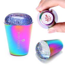 Geboren Pretty Dual Ended Jelly Nail Stamper Silicone Nail Art Stamper Met Nail Schraper Stamping Nail Kits Nail Art accessoires