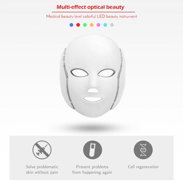 7 Colors Led Facial Mask with Neck Skin Rejuvenation  3