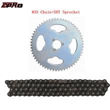 #35 Chain Sprocket 58 Tooth 29mm + 35 Chain 116 Links For Go Kart Mini Bike ATV Trike Dirt Bike Quad