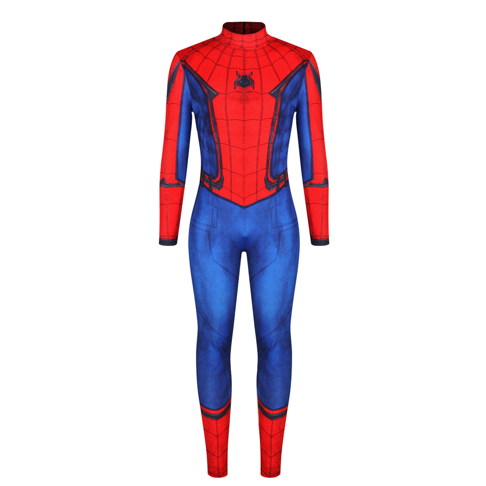 Spider Man Zentai Suit Lycra Jumpsuit Spandex Cosplay Costume For Halloween Christmas Men Clothes 2019