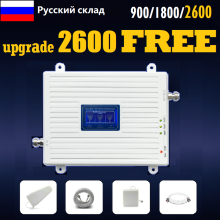 band 7 B3 B8 900 1800 2600 Tri-Band Booster 2G 3G 4G Cellular Signal Amplifier Cell Phone Signal Repeater LTE Russia Spain UK