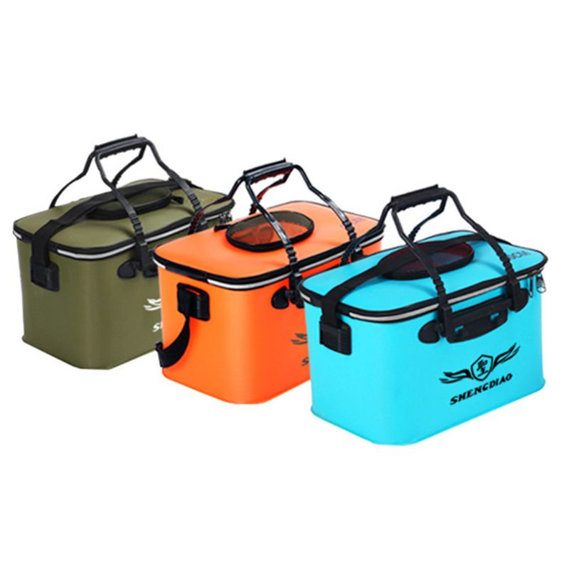 Live Fish Bucket Fishing Box EVA Outdoor Fishing Gear Large Portable with Handle Waterproof Folding Buckets  Au20 19 Dropship|Fishing Tackle Boxes| |  - title=