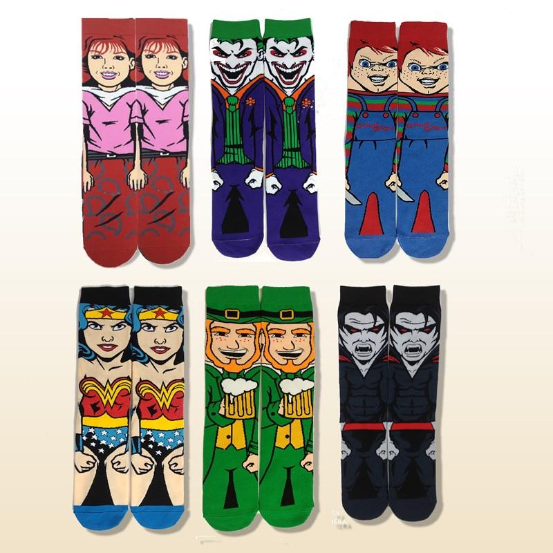 Fashion Casual Cartoon Men's Socks Harajuku  Anime Colorful Funny Socks Hip Hop Novelty Men And Women Personalized Cotton Socks