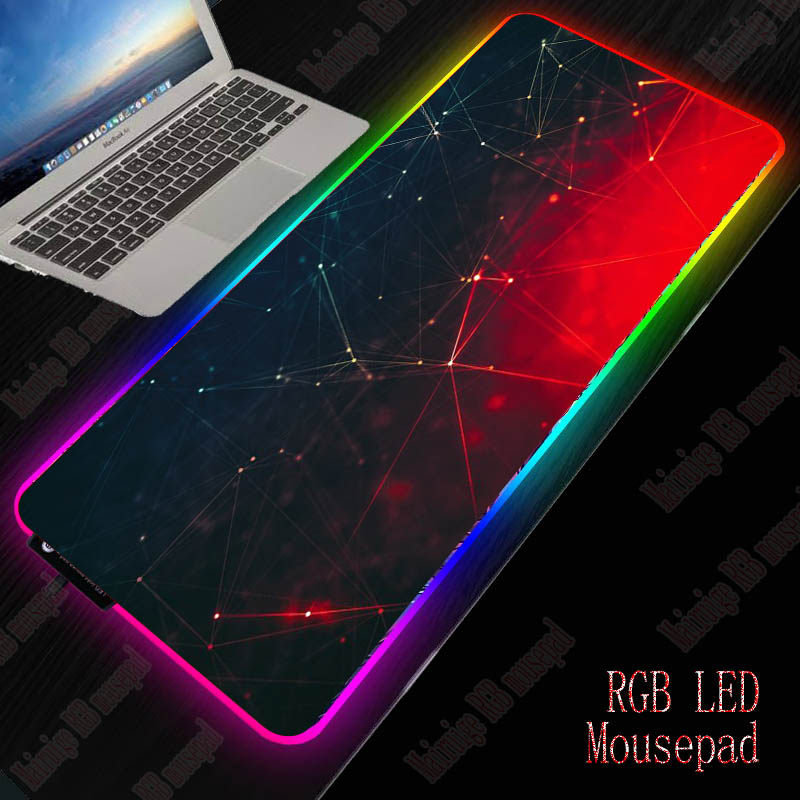 MRGBEST Gaming Mouse Pad Red And Black All Size RGB And Large Desktop Mat With Precision Weaving  Cloth For Home And Office