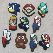 Shoe Charm Shoes-Accessories Fit-Decoration Cartoon-Anime Japan Super-Mario-Brothers