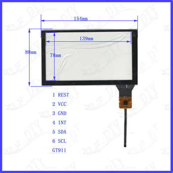ZhiYuSun for Android(hoxiao) for car NEW 155mm*88mm capacitive screen for tble compatible 155*88 YHCTP8017 image