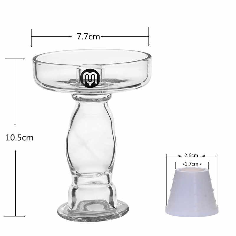 Yimi النرجيلة فريد Deisgn الزجاج النرجيلة السلطانية أعلى قطر 7.7 سنتيمتر ارتفاع 10.5 سنتيمتر الشيشة رئيس الحرة سيليكون جروميت مع صندوق هدية