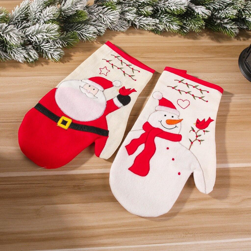 Перчатки для духовки рождественские перчатки прихватки выпечки