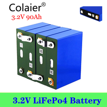 4pcs colaier 3.2V 90Ah Lifepo4 Battery CELL NEW for DIY 12V 24V 48V RV Pack Diy Solar EU US TAX FREE UPS or FedEx