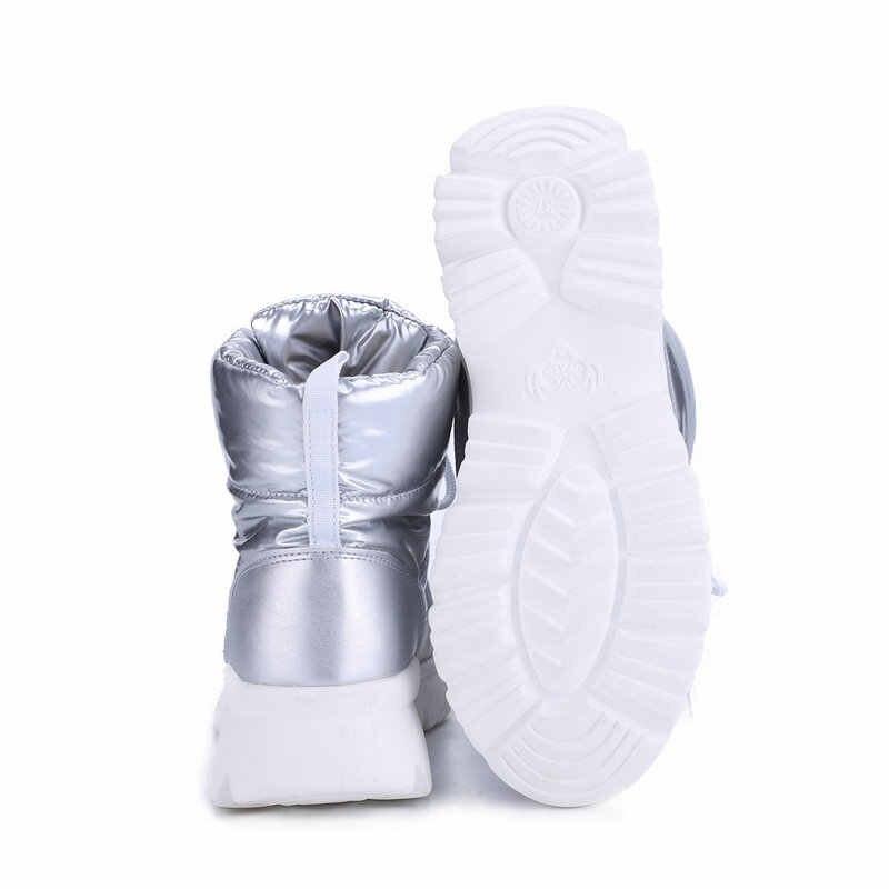 2019 gümüş yeni kadın botları kış sıcak kar botları düşük üst kaymaz beyaz taban 50% doğal yün dantel up ücretsiz kargo satmak