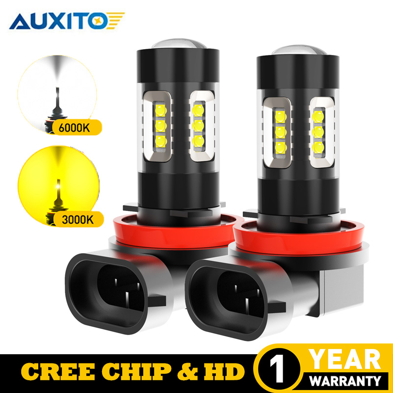 2x H11 LED Fog <font><b>Light</b></font> Bulbs H8 H9 Auto Day Time Running Lamp For Mercedes <font><b>Benz</b></font> W211 W210 W124 W212 W204 W203 W205 W220 <font><b>W221</b></font> C200 image
