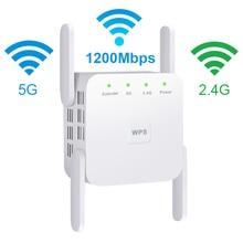 5Ghz واي فاي مكرر موسع واي فاي لاسلكي معزز Wi Fi واي فاي مكبر للصوت 5G 1200Mbps طويلة المدى واي فاي إشارة نقطة وصول ريبيتر