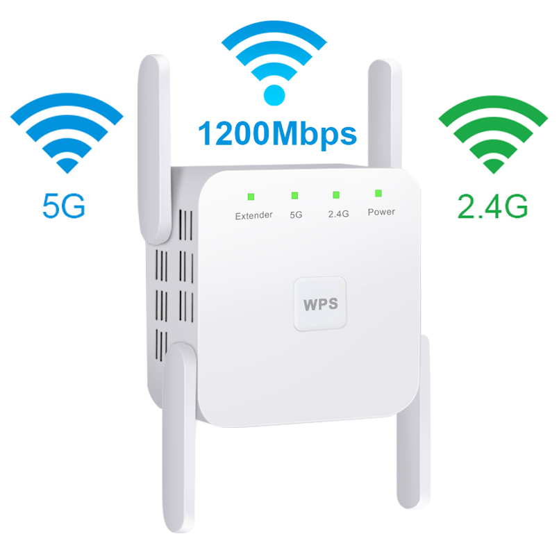 5Ghz WiFi Repeater WiFi Extender Wireless WiFi Booster Wi Fi Amplifier 5G 1200Mbps Long Range Wi-Fi Signal Repiter Access Point
