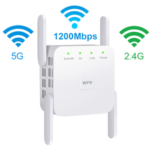 5Ghz WiFi Repeater WiFi Extender Wireless WiFi Booster Wi Fi Amplifier 5G 1200Mbps Long Range Wi Fi Signal Repiter Access Point