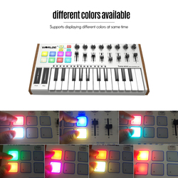 MIDI Controller WORLDE TUNA Mini 25Key MIDI Keyboard Controller USB Bus Powered Trigger Pad Professional Musical instrument