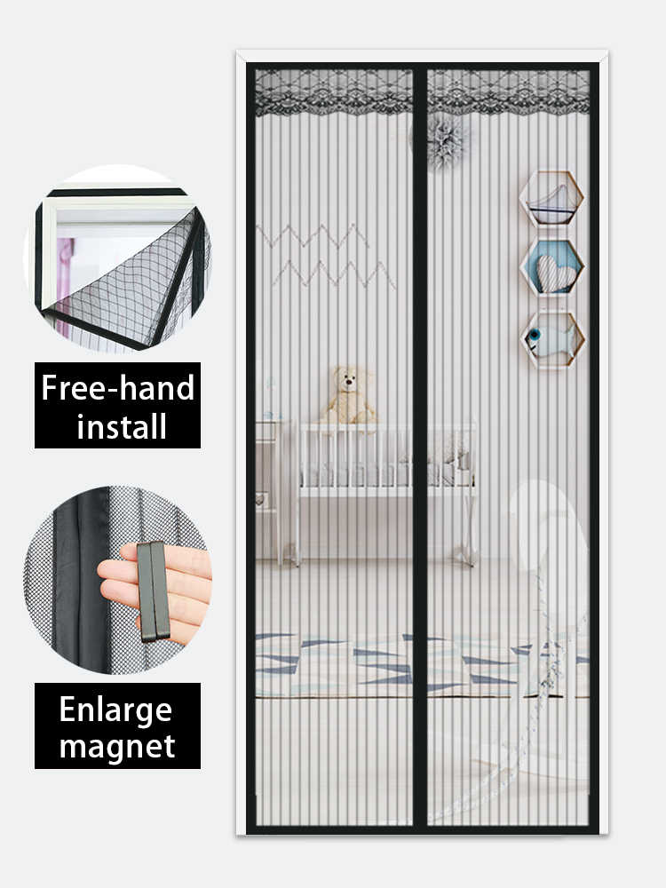 magnetic screen door summer mesh net anti mosquito insect fly bug curtain automatic closing door screen kitchen curtain 9 size