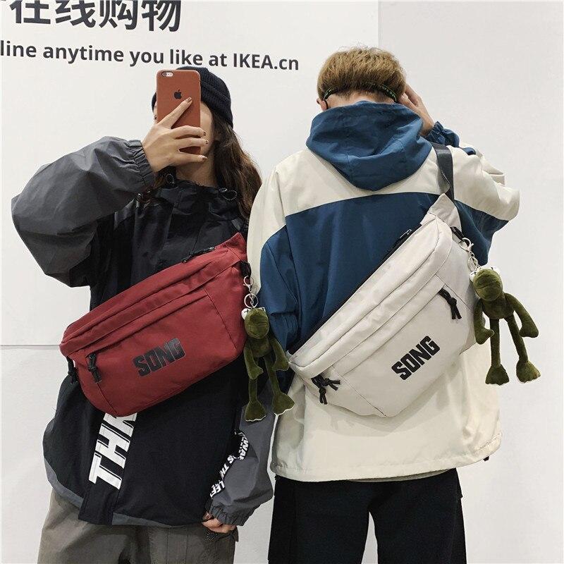 Large Capacity Hip Hop Street Waist Bag Travel Unisex Crossbody Casual Shoulder Bag Fashion Fanny Pack For Men Big Waist Pack