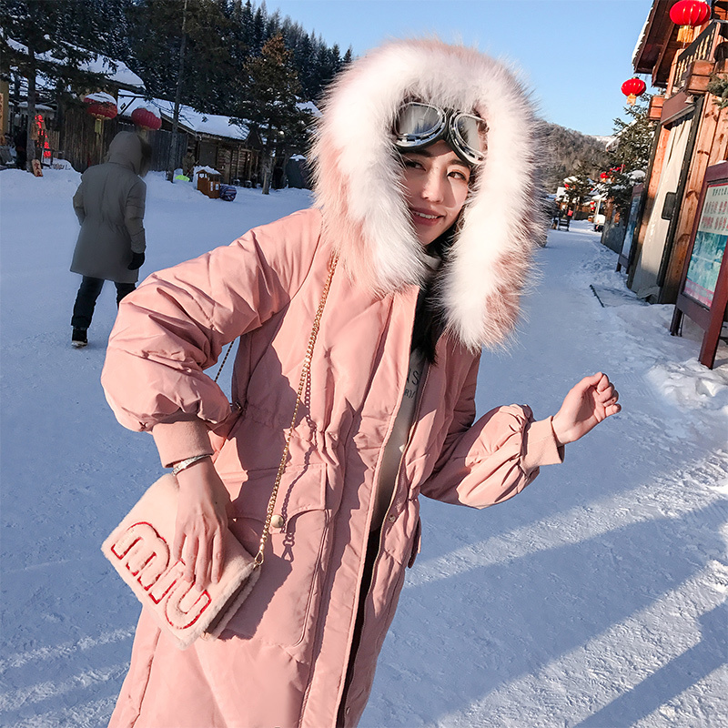 Winter Down Jacket Women 90% Duck Down Coat Female Long Down Parka Real Fur Hooded Korean Thick Warm Clothes 2020 LWL1339