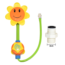 New Baby Water-tap Shower Spray Water Bath Toy Funny Tub Sunflower Shower Faucet Bathing Toys For Children Kids Gift 1pcs new baby funny water game sunflower baby shower faucet spray water toys for kids